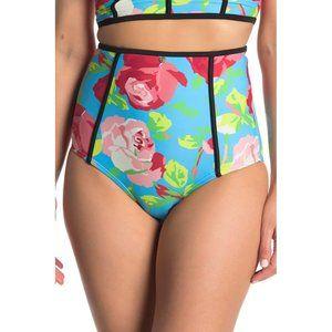Betsey Johnson high waist floral bikini bottoms